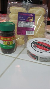 Tiramisu cheesecake ingredients