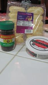 Tiramisu cheesecake ingredients