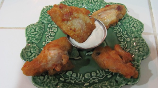 Spicy Buffalo Wings and Pareve Ranch Dip