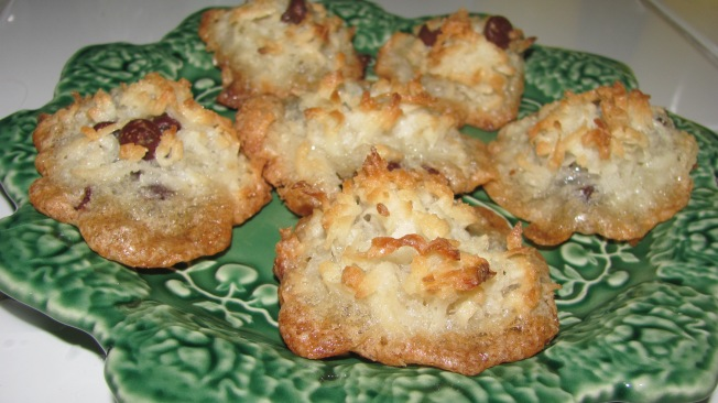 Chocolate Chip Coconut Macaroons for Passover