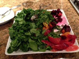 Salad with Beets and blood red oranges
