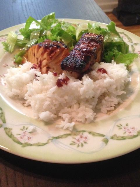Kosher Spicy Broiled Salmon