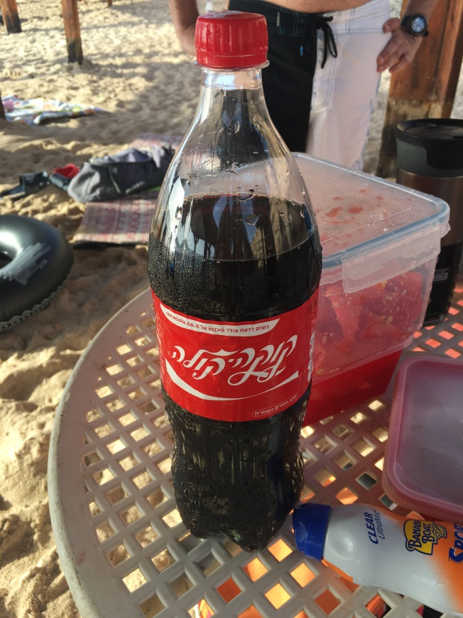 Israelis, you drink way too much Coca Cola. It's everywhere and on every table. Ugh.