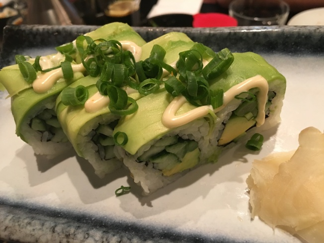 Not sure I'd eat sushi again in Israel, but the food was beautiful and we had lots of fun.